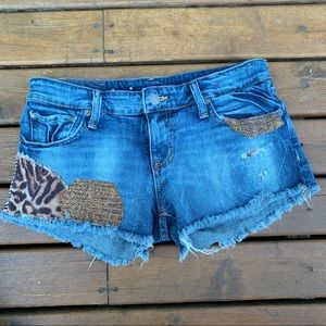 Ralph Lauren | Animal Print Patch Cut Off Shorts
